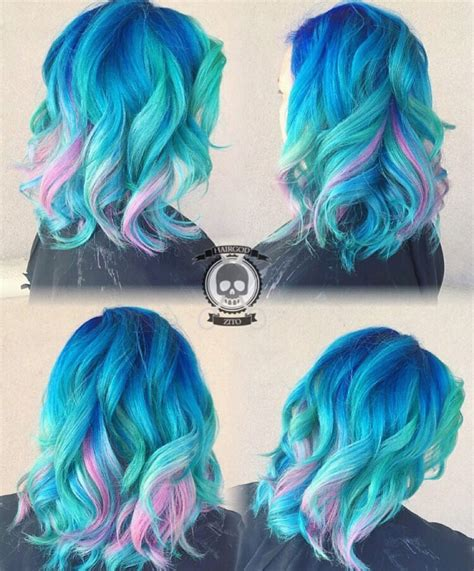 mermaid hair colors mermaid hair color by rickey zito blue hair turquoise hair