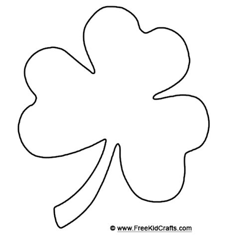 shamrock template for st patrick s day crafts holiday