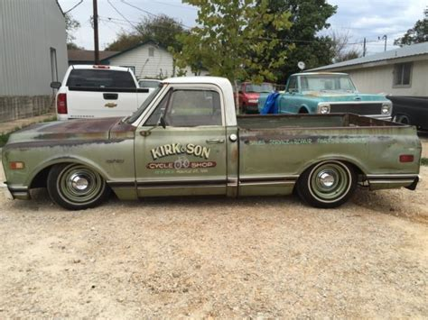 Topi Trucker Chevrolet Banaboo Shopping restomod shop truck patina bagged updated c10 big back window up for sale photos
