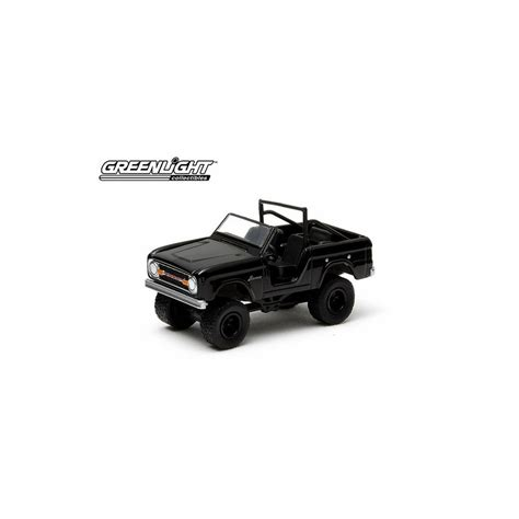 Diecast Ford Bronco 1970 Skala 64 Black Bandit By Greenlight greenlight black bandit series 10 1970 ford bronco