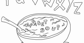 alphabet soup coloring page crayon action coloring book pages