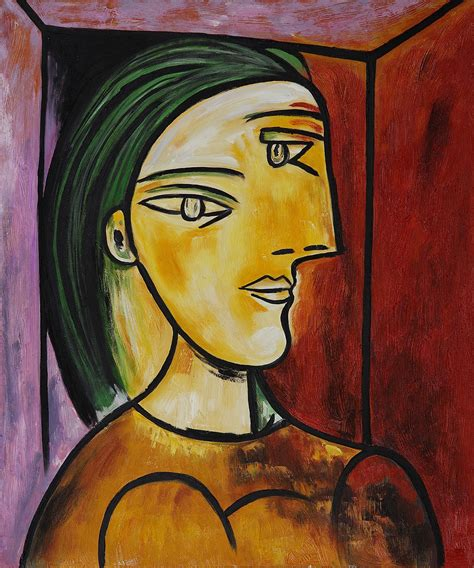 pablo picasso cubist faces cubist painting 20 24 quot reproduction pablo picasso