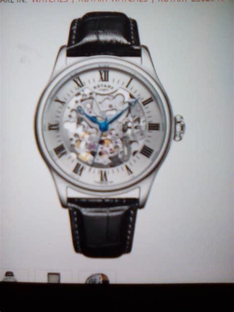 Rotary Lb02756 06 Original gs02940 06 rotary mens timepieces silver brown skeleton mechanical