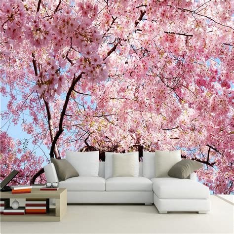 blossoms bedroom ヾ ノbeibehang custom photo wallpaper 3d 3d stereo large murals cherry