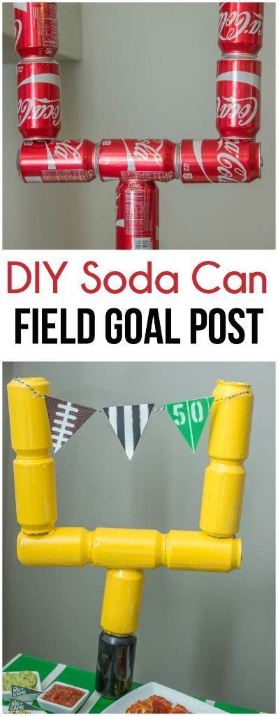 How To Make A Paper Football Goal Post - the idea of using empty soda cans to make a field