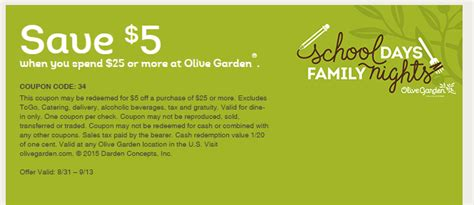 Olive Garden Discount Coupons by Wow Olive Garden 5 25 Coupon Thru 9 13 Grocery