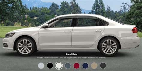 white volkswagen passat 2017 2017 volkswagen passat configurations and colors