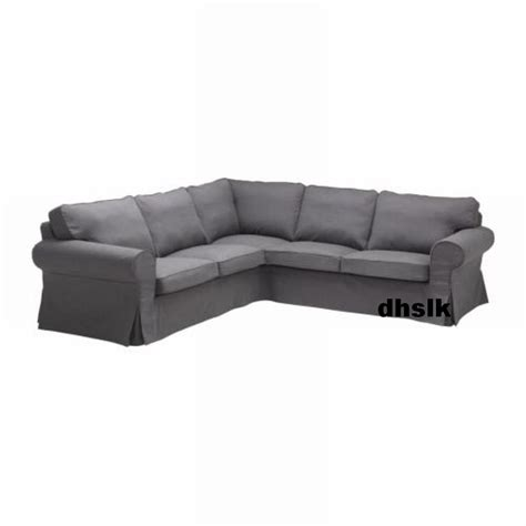 grey sofa covers ikea ektorp 2 2 corner sofa cover slipcover svanby gray