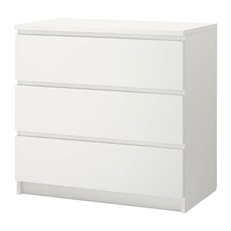 malm 3 drawer chest white ikea
