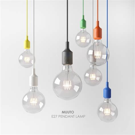 E27 Pendant Light 3d Models Ceiling Light Muuto E27 Pendant L