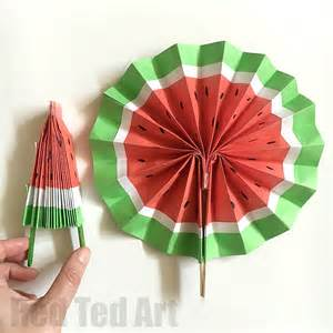 How To Make Paper Fans - diy paper fan melon fans ted s