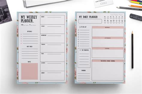 planner design templates weekly planner daily planner by chic templates