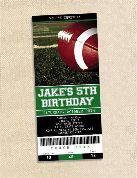 Free Printable Football Invitations Templates Printable Football Ticket Template