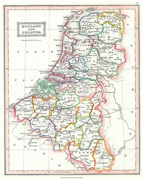 map netherlands and belgium and belgium geographicus antique maps