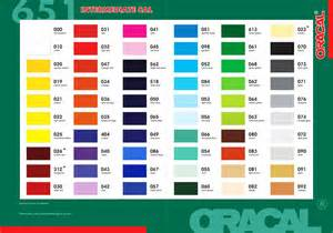 oracal 651 color chart bahan sticker graphx cutting sticker