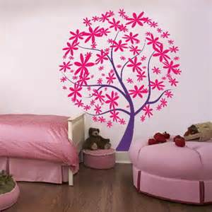 marvelous Bedroom Accessories For Teenagers #2: Pink-and-Purple-Tree-Wall-Decals-Stickers-for-Teenagers-Girls-Bedroom-Wall-Decorating-Designs-Ideas.jpg