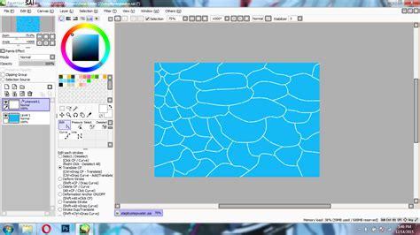 tutorial menggambar anime dengan paint tool sai tutorial menggambar air kolam laut di paint tool sai