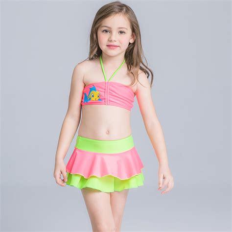 cute toddler girl bathing suits muzhidou 2017 new cute child bikini dress swimsuit high