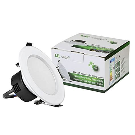 le better lighting experience le 4 pack 8w 3 5 inch led recessed lighting 75w halogen