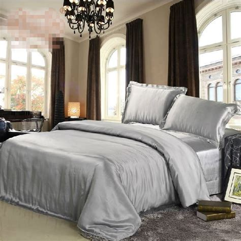 grey silk comforter compare prices on silver grey bedding online shopping buy
