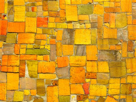 random pattern mosaic tile yellow tiles mosaic random pattern stock photo image