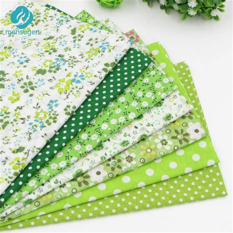 Fabrics For Patchwork - green patchwork fabric 7pcs tailor 180 s tack quilting
