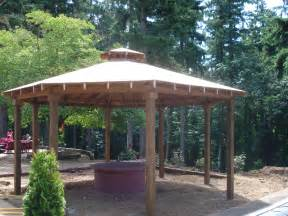 Fire Pit Gazebo by Fire Pits And Patios Green Thumb Landscaping