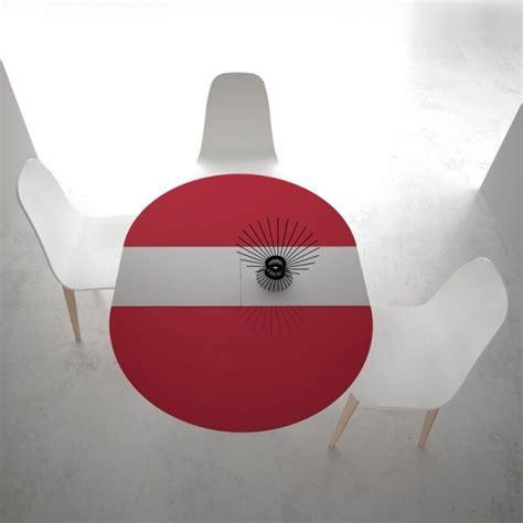 table et chaise 459 table ronde en formica brillant pied central avec allonge