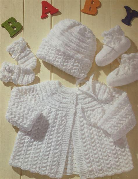 baby layette knitting patterns free baby knitting pattern vintage matinee coat bonnet booties