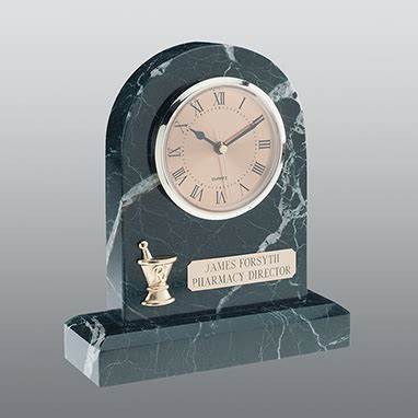 C453 Green zebra clock personalized brass plate