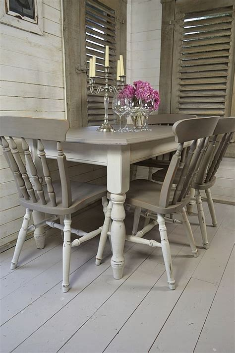 Shabby Chic White Dining Table Grey White Shabby Chic Dining Table With 4 Chairs Artwork Furniture Ideas