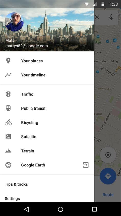 google maps   timeline feature