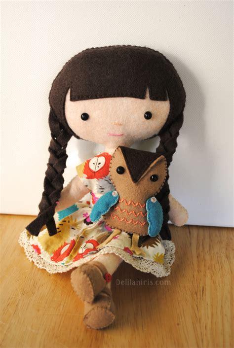free pattern felt doll emily owl felt doll sewing pattern felt doll pattern and