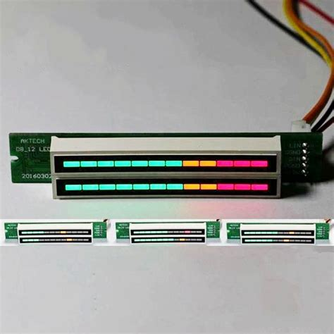 Led Vu Meter Kit dual 12 stereo level indicator diy kit led vu meter ls light speed adjustable for power