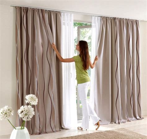 vorhangschals blickdicht 1 st vorhang gardine store 140 x 245 beige braun