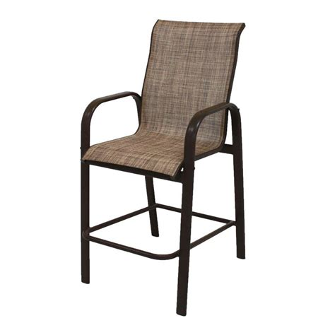 High Patio Chairs - brown greystone patio high dining chair in sparrow