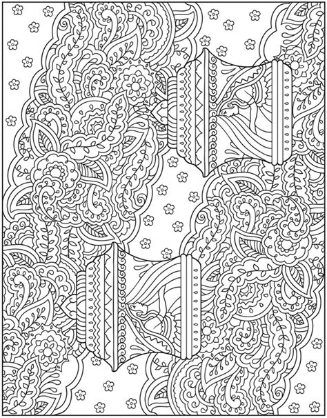 free mehndi pattern coloring pages