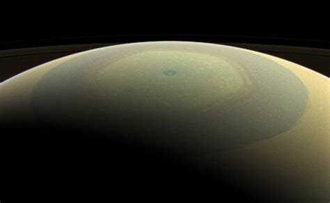 hexagon shape on saturn saturn s mysterious hexagon has changed color its a