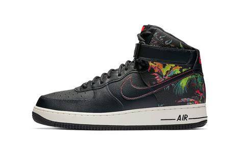 nike air force  high black floral hypebeast