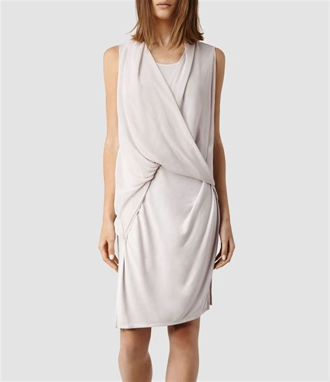 All Saints Tornquist Dresses by Lyst Allsaints Abi Dress In Gray