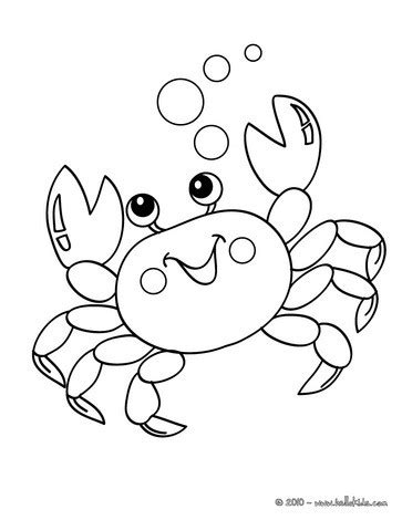 kawaii crab coloring pages hellokids com