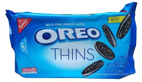 New Oreo Thins Crispy Cookies 95g review nabisco oreo thins cookies the impulsive buy