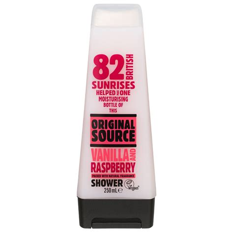 Spa Shower Gel Original original source shower gel vanilla raspberry 250ml bath