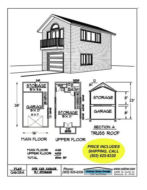 2 Story Garage Plans by 2 Story Single Garage Plan House Garage