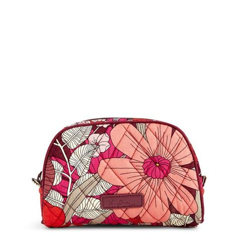 Fiores Bohemian Bloom Claudette Frame Handbag by Vera Bradley Small Zip Cosmetic In Bohemian Blooms The