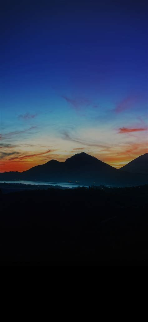 mq mountain sunrise nature  sky dark wallpaper