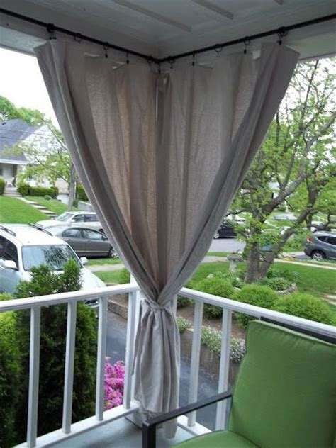 curtains for sun porch canvas drop cloth curtains for screen porch block out