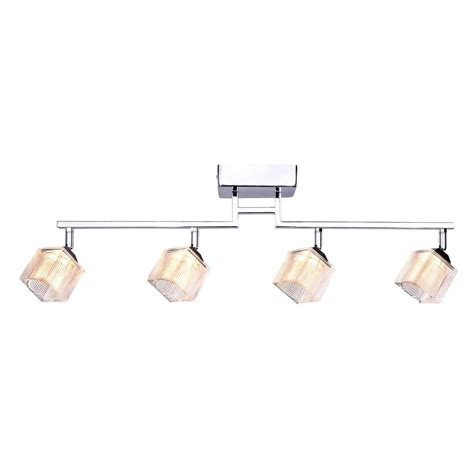 4 light led track lighting hton bay 4 light led directional track lighting fixture