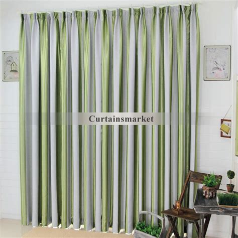 grey green curtains grey and green striped curtains are fresh and causal