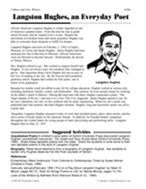 langston hughes biography quiz poetry lessons activities gallery of worksheets grades